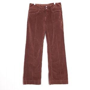 Athleta velvet Corvana wide leg duster pants